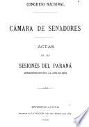 Diario de sesiones de la Cámara de Senadores