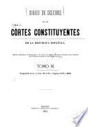 Diario de sesiones de las Córtes constituyantes de la República española