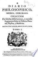 Diario philosophico, medico, chirurgico