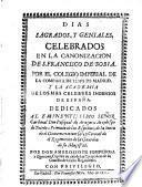 Dias sagrados y geniales celebrados en la canonizacion de S. Francisco de Borja (etc.)