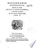 Diccionario apostolico, & c