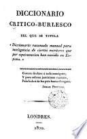Diccionario crítico-burlesco del que se titula