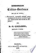 Diccionario critico-burlesco