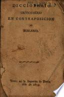 Diccionario crítico-serio en contraposicion al burlesco