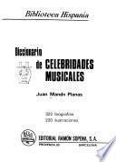 Diccionario de celebridades musicales