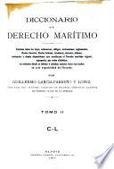 Diccionario de derecho marítimo: C-L
