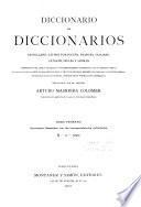 Diccionario de diccionarios: Diccionario castellano con las correspondencias extranjeras.-t. 3-4. Vocabulario-resumen con las correspondencias castellanas