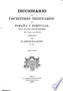 Diccionario de escritores trinitarios de España y Portugal