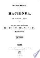 Diccionario de hacienda con aplicacion a Espana. Segunda edicion