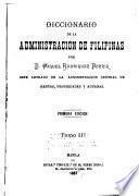 Diccionario de la administracion de Filipinas