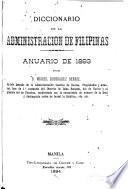 Diccionario de la administración de Filipinas