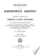 Diccionario de la jurisprudencia argentina