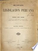 Diccionario de la legislación peruana