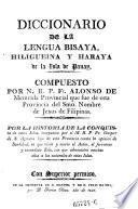 Diccionario De La Lengua Bisaya, Hiligueina Y Haraya de la isla de Panay