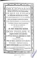 Diccionario de la lengua castellana ... compuesto por la real academia espanola
