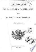 Diccionario de la lengua castellana, por la Real academia española