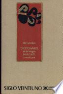 Diccionario de la lengua náhuatl o mexicana