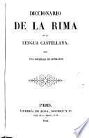 Diccionario de la rima de la lengua castellana