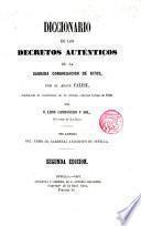 Diccionario de los Decretos auténticos de la Sagrada Congregación de Ritos