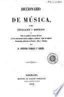 Diccionario de música, ó sea, Esplicación [sic] y definición