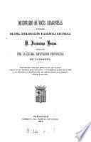 Diccionario de voces aragonesas