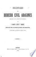 Diccionario del derecho civil aragonés