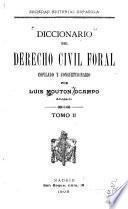Diccionario del derecho civil foral