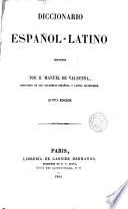 Diccionario Español-latino...