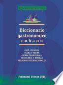 Diccionario gastronómico cubano