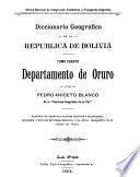 Diccionario geográfico del departamento de Oruro [1904]