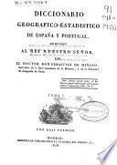 Diccionario geográfico-estadístico de España y Portugal: (15, LXVII, 408 p.)