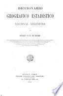 Diccionario geográfico estadístico nacional argentino