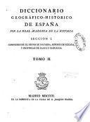 Diccionario Geografico-Historico de Espana