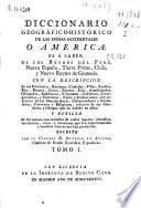Diccionario geográfico-histórico de las Indias Occidentales ó América