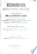 Diccionario-guía legislativo español