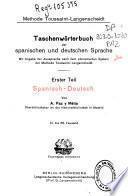 Diccionario manual de las lenguas Española y Alemana