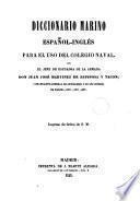 Diccionario marino español-inglés para uso del Colegio Naval