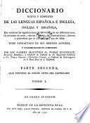 Diccionario nuevo de las dos lenguas espanõla é inglesa: t. 1-2. El castellano antes del inglés