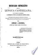 Diccionario ortográfico de la lengua castellana