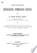 Diccionario ortográfico etimológic Español