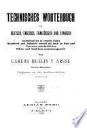Diccionario técnico : alemán, inglés, francés, español