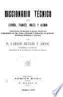 Diccionario técnico en español, francés, inglés y alemán