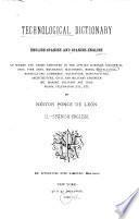 Diccionario tecnológico inglés-español y español-inglés de los términos y frases usados en las ciencias aplicadas