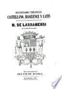 Diccionario trilingue Castellano, Bascuence y Latin por Manuel de Larramendi