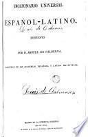 Diccionario universal Español -Latino