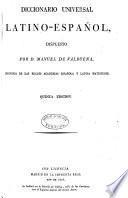 Diccionario Universal Español-Latino y Latino Español