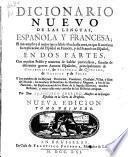 Dicionario nuevo de las lenguas, Española y Francesa ...