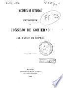 Dictamen de letrados y exposición del Consejo de Gobierno del Banco de España