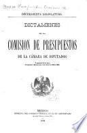 Dictamenes de la Comision de presupuestos de la Cámara de diputados, y proyectos de las leyes de ingresos y egrésos para el año fiscal de 1894 á 1895