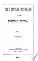 Diez civiles notables de la historia patria